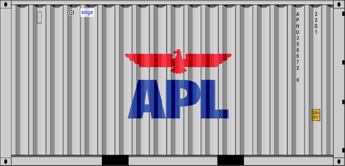 N - APL 20´ Gray Sea Container