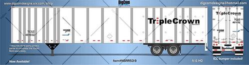 HO - TRIPLE CROWN ROAD RAILER 53´Trailer