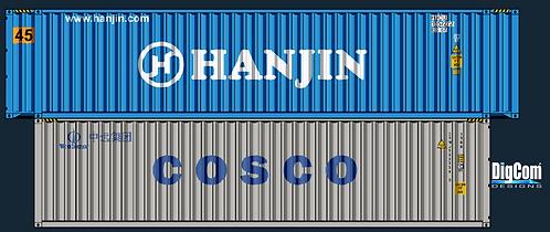 HO - COSCO 40´HANJIN 45´Double Stacks