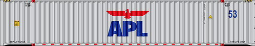 N - APL 53´ Gray Sea Container