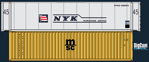 N - MSC 40´NYC 45´Double Stacks