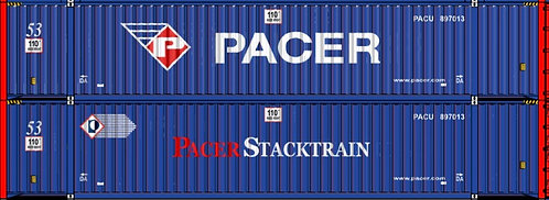 HO - PACER 53´PACER STACKTRAIN 53´Large Logo - Double Stack