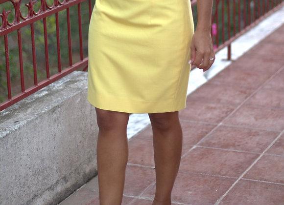 Saia de costureira amarela