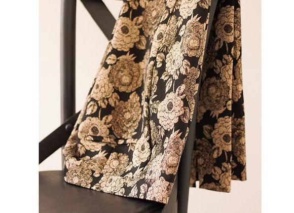 Calças chino preto e dourado