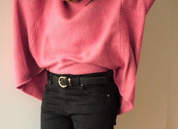 Camisola oversize rosa