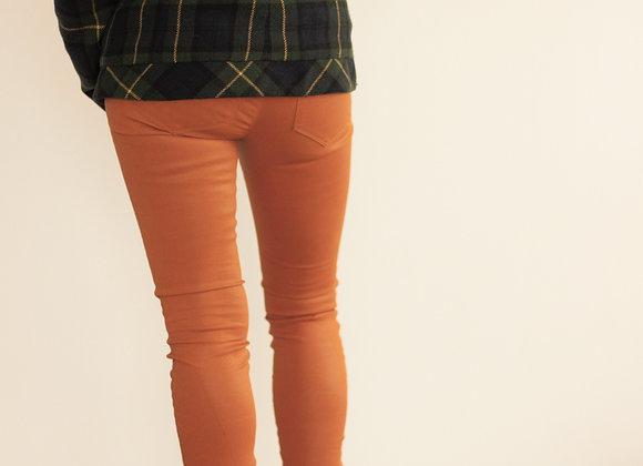Calças napa laranja