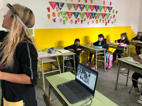 Colegio Researchers, Plottier, Neuquén aplica modelo híbrido bajo plataforma de Google.