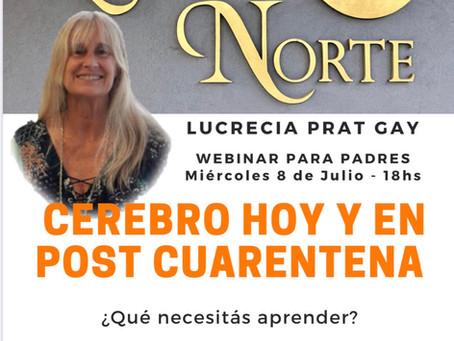 Cerebro hoy y en post cuarentena, Lucrecia Prat Gay Colegio Lucero Norte