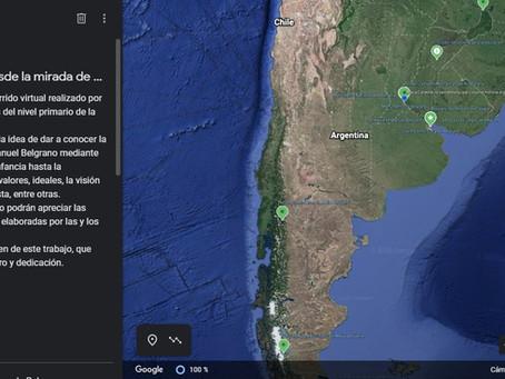 La escuela del Cono Sur, Emplea el Earth Engine de Google para recrear el día de la Bandera