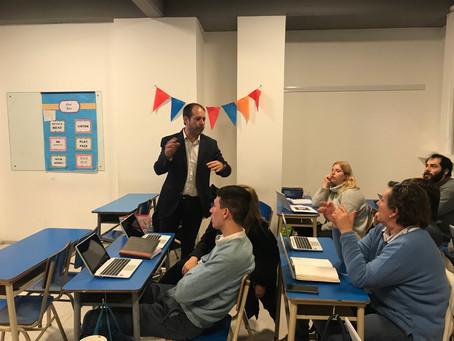 Capacitación Aula Digital a docentes en Unidad Académica Armonía