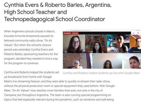 Google Global selecciona 4 proyectos de docentes en el mundo en el Día del Maestro Internacional