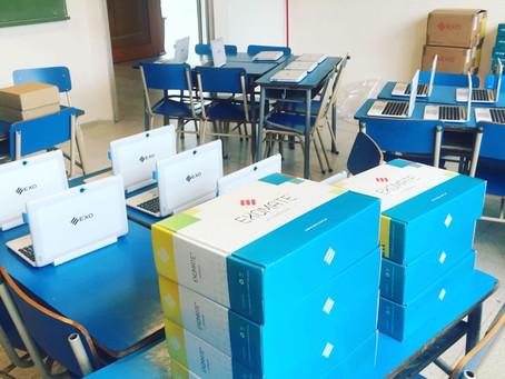 Instalación aulas digitales en Colegio Armonía de Campana