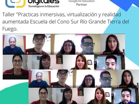 Taller de prácticas inmersivas, virtualización y realidad aumentada Escuela del Cono, Sur Río Grande
