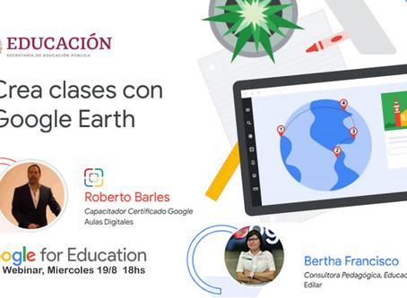 Campamento Digital de Escuela del Cono Sur en Webinar de Google y Secretaría Educación México
