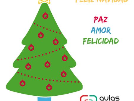 Feliz Navidad les desea: Aulas Digitales