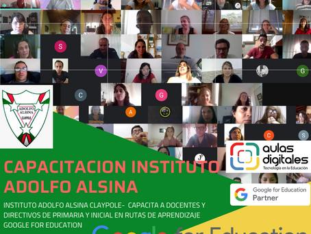 Capacitación Google for education Instituto Adolfo Alsina de Claypole