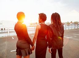 Black women in Los Angeles sunset