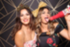 Two Sisters Goofing Off With Props In A Phoenix Photo Booth Rental For A Birthday Party