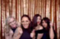 Four Women With Our Luxury Metal Props Enjoying Our Photo Booth Hire In Tucson At A Fundraiser Gala