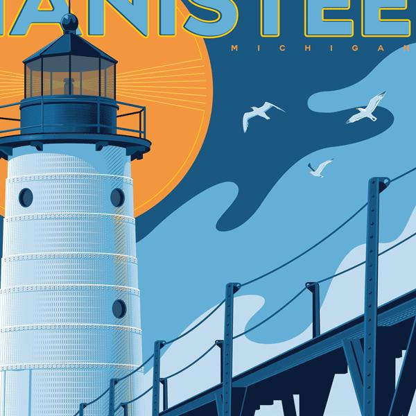 Manistee Art Print
