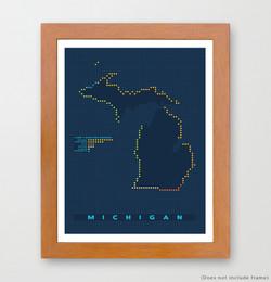 Michigan Map Art