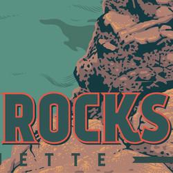 Black Rocks Travel Poster