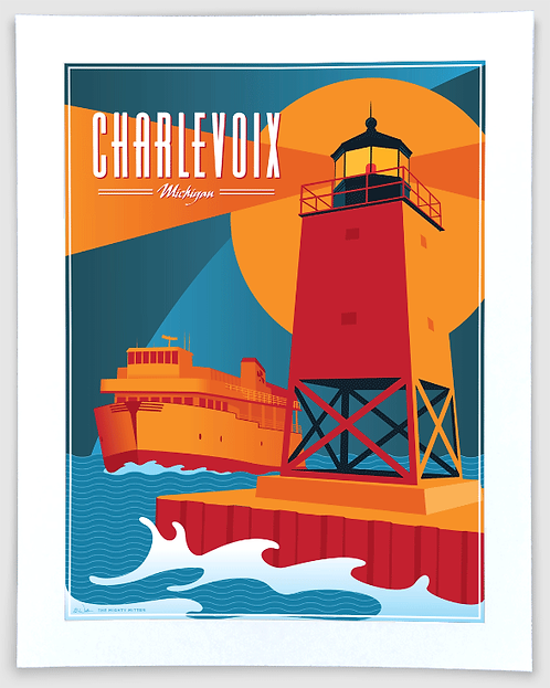 Charlevoix - Michigan Travel Art Print
