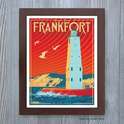 Frankfort, Michigan Travel Poster