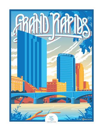 Grand Rapids - Pure Michigan 15th Anniversary Commemorative Print