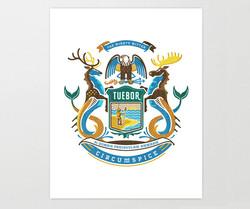 State Crest - Michigan Art Print