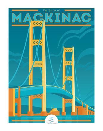 Mighty Mac - Pure Michigan 15th Anniversary Commemorative Print