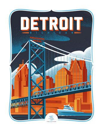 Detroit - Pure Michigan 15th Anniversary Commemorative Print