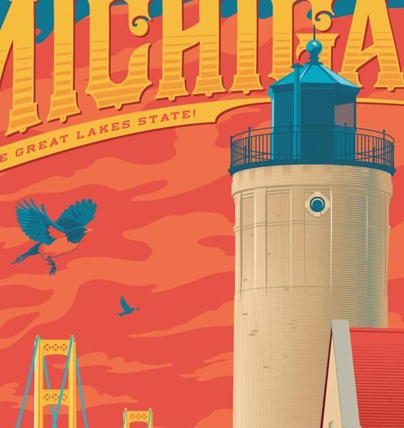 Mackinaw Travel Poster