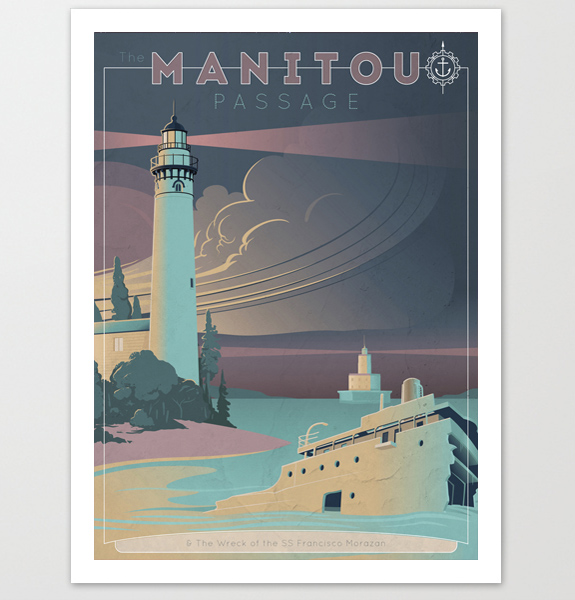 Manitou Michigan Art Print
