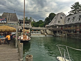 A view if historic Fishtown in Leland, Michigan