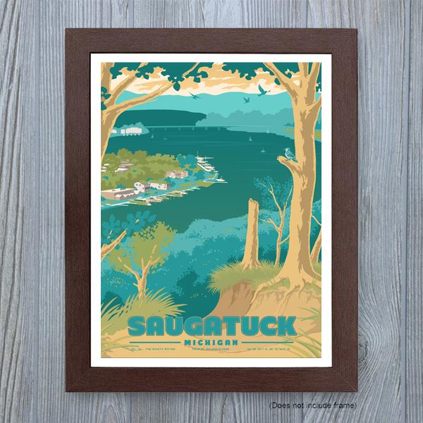 Saugatuck Michigan Art Print