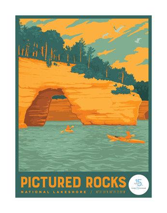 Pictured Rocks - Pure Michigan 15th Anniversary Commemorative Print
