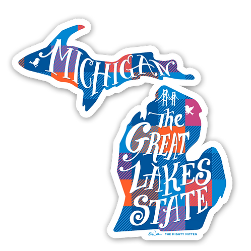 "Great Lakes State Sticker - 3x3"" + 4x4"" Michigan Stickers (FREE SHIPPING)"