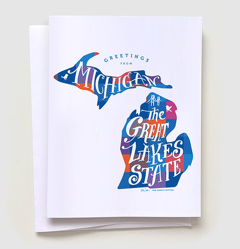 Greetings from the Great Lakes State Greeting Card