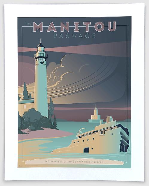 Manitou Passage - Michigan Travel Art Print