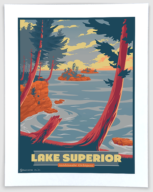 Lake Superior - Michigan Travel Art Print