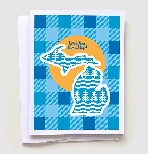 Wish You Were Here - Michigan Greeting Card