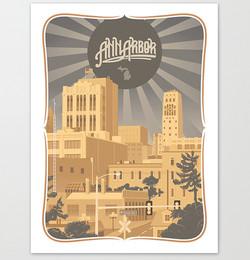 Ann Arbor Michigan Art Print