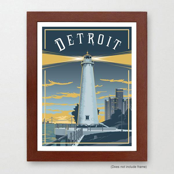 Detroit Travel Art Print