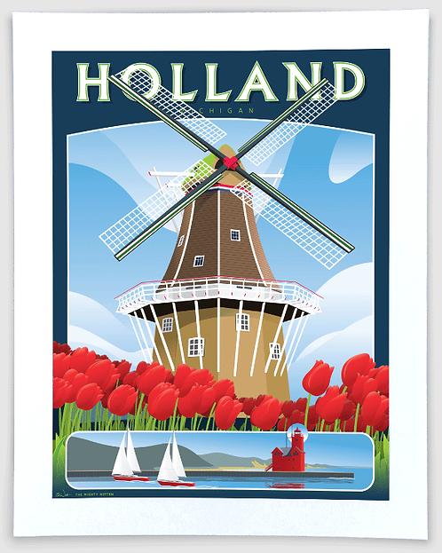 De Zwaan, Holland - Michigan Travel Art Print