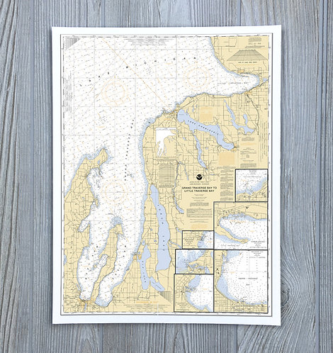 Grand Traverse Chart - Michigan Nautical Chart