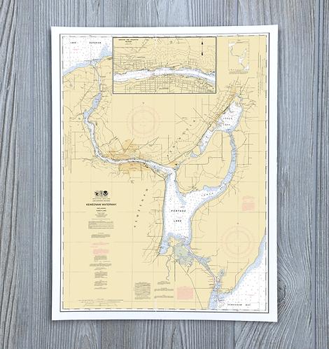 Keweenaw Chart - Michigan Nautical Chart