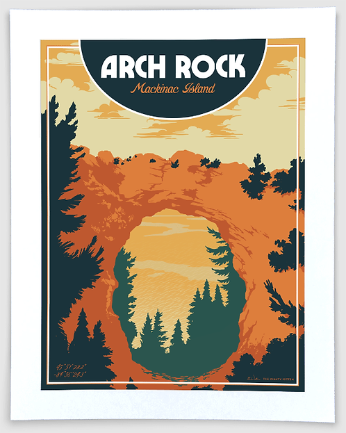 Arch Rock - Michigan Travel Art Print