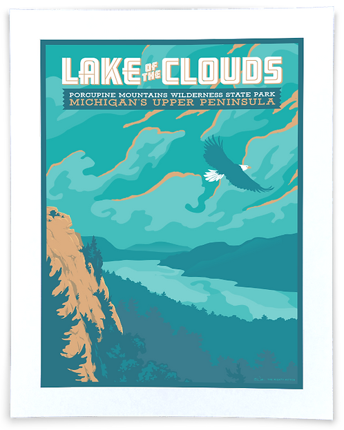 Lake of the Clouds - Michigan Travel Art Print