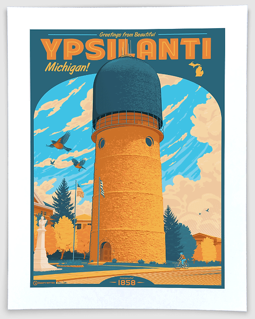 Ypsilanti - Michigan Travel Art Print